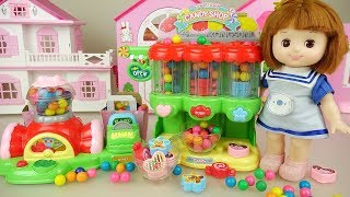 Candy vending machine baby doll shop play Doli house