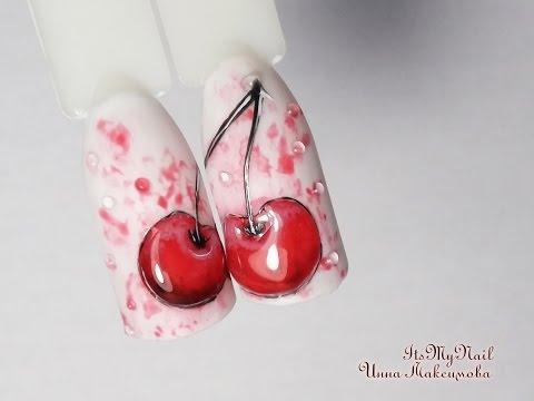 Вишенка дизайн для ногтей