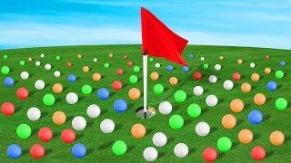 1000 GOLF BALLS VS HOLE IN ONE! (Golf It)