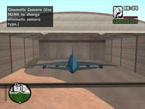 GTA San Andreas Boeing 747 mod