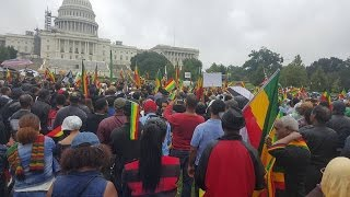 Ethiopians in DMV Metro Area held massive demonstration in Washington, DC