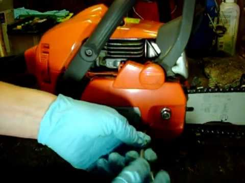How to: Change a Chain on a Husqvarna Chainsaw. ( Model 445 )