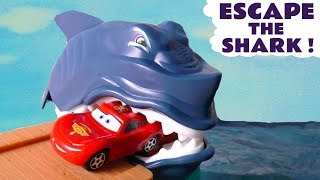 Disney Cars Toys McQueen Escape The Shark and Baby Shark toy stories with funny Funlings TT4U