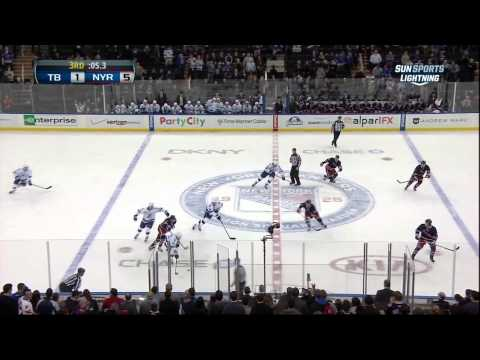 Rick Nash goal Feb 10 2013 Tampa Bay Lightning vs NY Rangers NHL Hockey