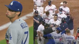 BENCHES CLEAR - Houston Astros vs Los Angles Dodgers (Video)