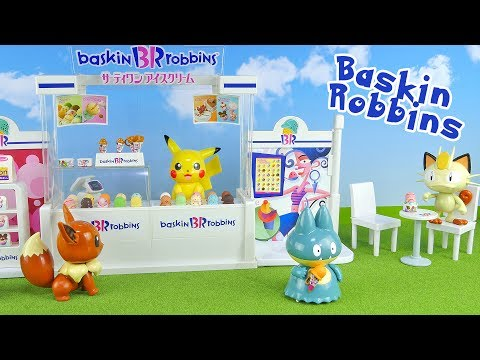 Baskin Robbins Ice Cream Play set With Bobblehead  Pokemon