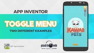 App Inventor: Toggle Menu