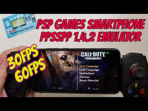 Playing Call of Duty: Roads to Victory on Android Smartphone Xiaomi Mi6 PPSSPP 1.4.2 test 30-60FPS