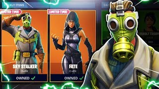 "NEW SKIN UPDATE! *NEW* ""Sky Stalker"" & ""FATE"" Skin in Fortnite! Fortnite NEW SKINS! (Fortnite LIVE)"