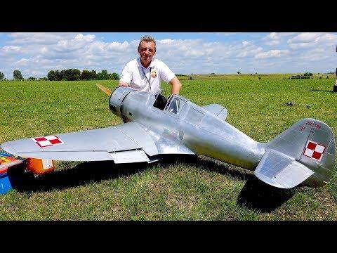 Makieta PZL.50 Jastrząb. Piknik Modelarski Warbirds Bobrowniki..