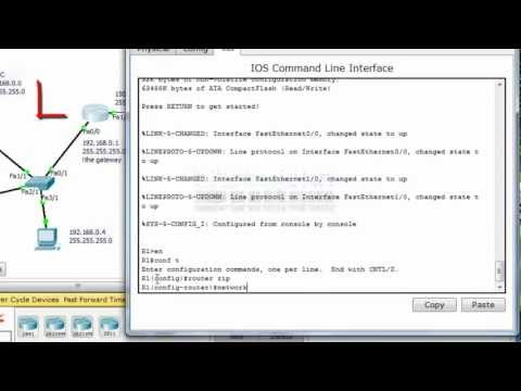 Cisco CCNA Tutorial: Configure RIP Routing