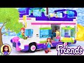 Lego Friends Friendship Bus (with hidden swimming pool) - Speed Build