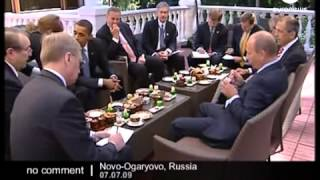 President Obama and Putin have breakfast together