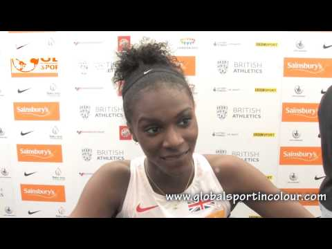 Dina Asher-Smith Post Diamond League interview - Birmingham 2015
