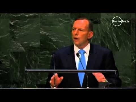 Tony Abbott the recalcitrant on climate change at the UN