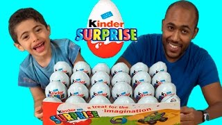 Kinder Surprise Eggs Unboxing Challenge Fail! New 2015 Opening Of Toys and Fight After Unwrapping!