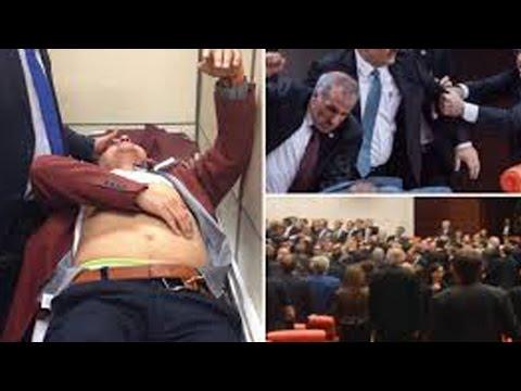 Mass brawl in Turkish parliament