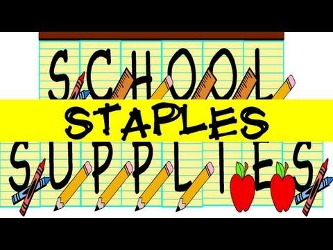 Back To School 2012: Staples School Supplies Haul