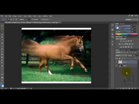 Как сделать эффект движения в фотошопе cs6