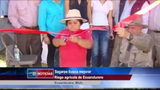 Ecuandureo, Mich.-  Sagarpa busca mejorar riego agrícola de Ecuandurero.