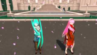 MMD Worlds End Dancehall Miku y Luka