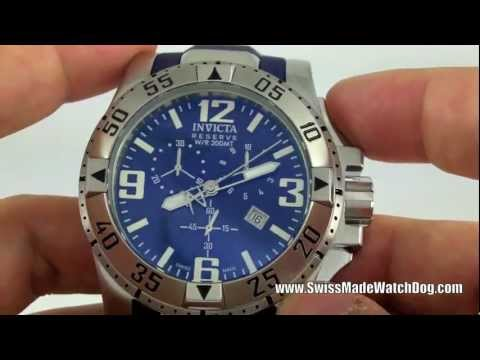 Invicta Watches   Men's 6263 Reserve Excursion Collection Chronograph Blue Dial Swiss Made Watch