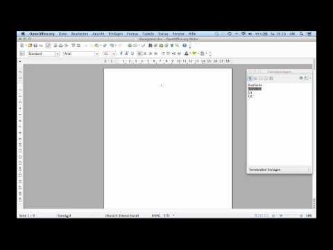 5 Seminararbeit formatieren mit OpenOffice 4 - Teil 5: Inhaltsverzeichnis