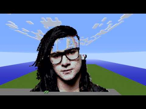 Skrillex ║ Pixel Art ║ Time Lapse ║ 20.740 Blocks ║ Minecraft