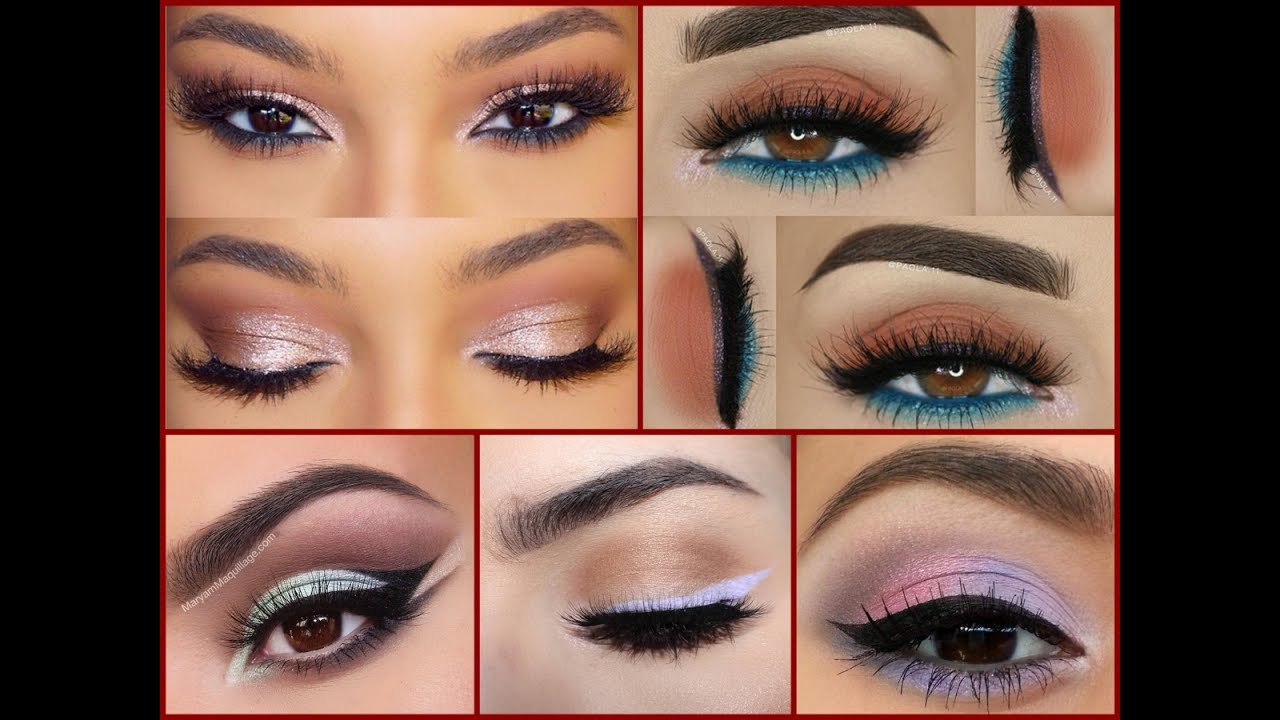 How to makeup brown eyes