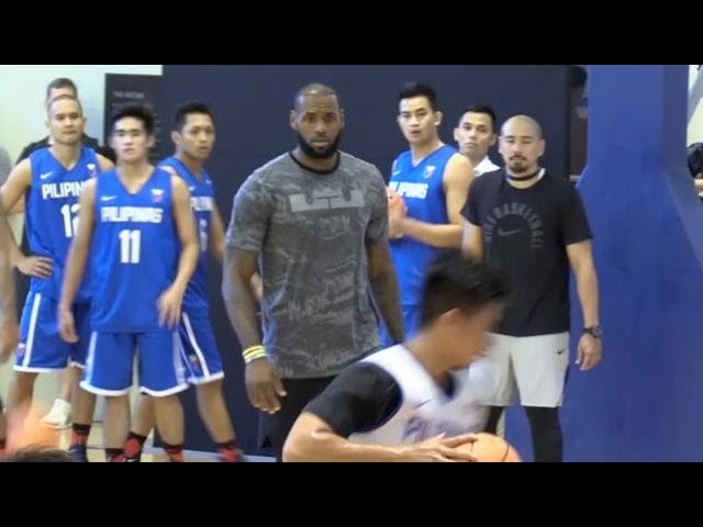 LeBron James trains Gilas Pilipinas