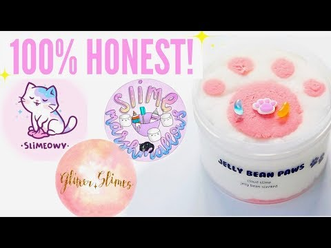 100% HONEST Famous + Underrated Instagram Slime Shop Review! Glitter.Slimes Package Unboxing