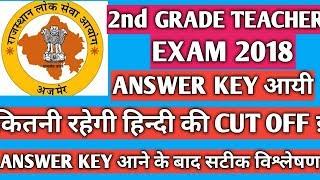 2nd Grade Teacher Exam 2018,Hindi की कितनी रहेगी Cut off||Answer key आने के बाद