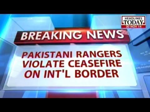 Pakistani rangers violate ceasefire on Int'l border