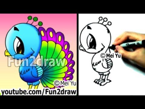Cute Peacock Drawings a Cartoon Peacock Draw