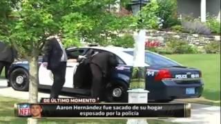 Aaron Hernández (Jugador de Patriots NFL)detenido por la policia en su propia casa