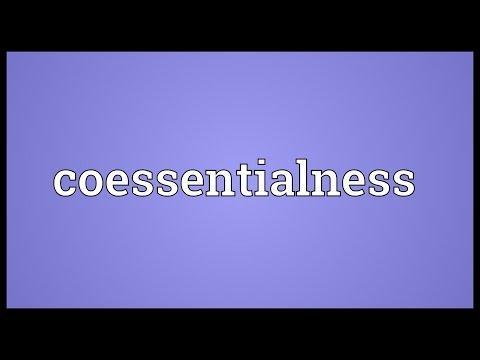 Header of coessentialness