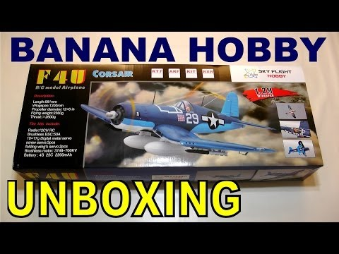 LX Models F4U 1200MM Folding Wing CORSAIR UNBOXING in HD By: RCINFORMER