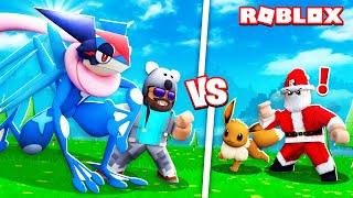 ASH-GRENINJA + BATTLING SANTA!!!!   Pokémon Brick Bronze [#27]   ROBLOX