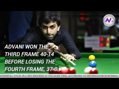 Pankaj Advani wins Asian 6-Red Snooker