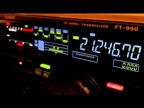 Ham Radio DX QSO CX4BW Yaesu FT-950 15 Meters SSB