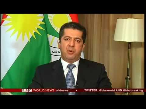 BBC world news interview with Masrour Barzani chancellor of Kurdistan intelligence and security.