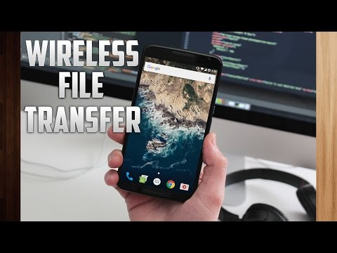 How to transfer files via WiFi from PC to Android  📂