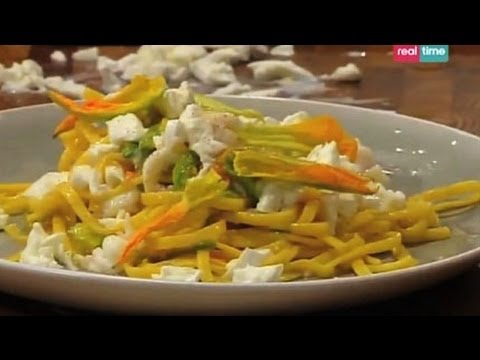 Tagliolini con scampi e fiori di zucca – Cucina con Ale: ricette
