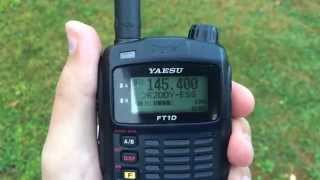 Yaesu FT-1DR and FTM-400DR QSO 20 km digital modulation C4FM