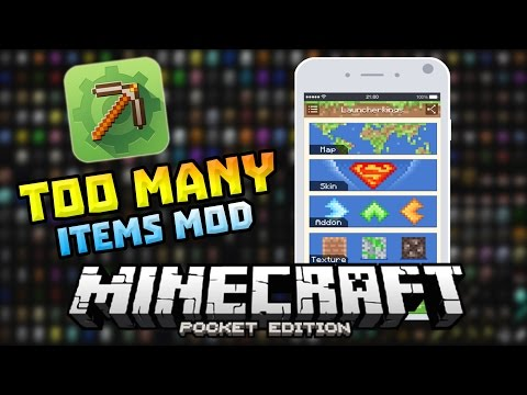 TOO MANY ITEMS MOD in 0.13.0!!! - MCPE Master Update - Minecraft PE (Pocket Edition)