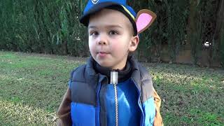 Dima Kids TV! The fuel was over on BMW car FUNNY BABY Paw Patrol Ride on POWER WHEEL Tractor and tow