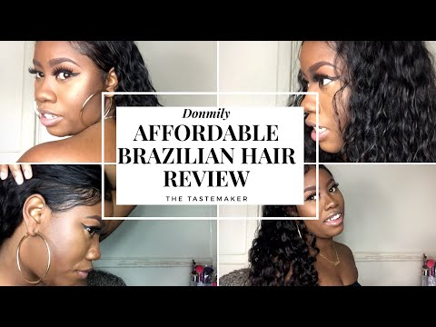 DonMily Hair Review Brazilian Deep Wave   THE TASTEMAKER   +Discount Code