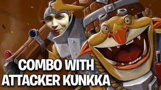 REAL ATTACKER KUNKKA IN MY STACK
