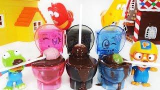 뽀로로 와 포핀쿠킨 모코모코 모코렛2 변기 사탕 음료수 만들기 장난감 Popin Cookin Moco Mokolet2 Toilet drink Making Pororo Toys