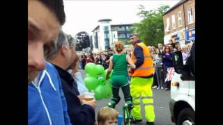 mad woman at olympic torch relay!